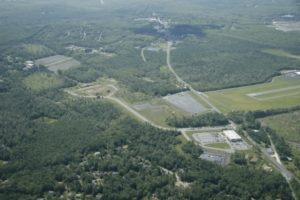 Aerial view of Pocono Mountains Corporate Center East near future home of Waste Not Technologies, large