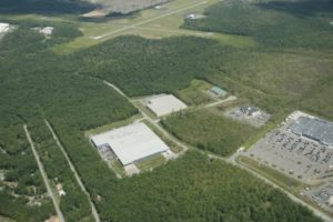 Aerial view of Pocono Mountains Corporate Center South, large