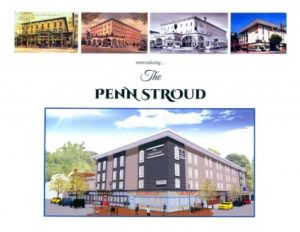 The Penn Stroud advertisement with multiple photos of different views of the building over time