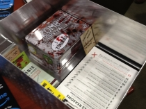 Photo inside a box that contains a Zombie kit and other documents