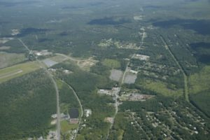 Aerial view of Pocono Mountains Corporate Center East, large