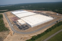 Aerial view of the Johnson and Johnson Sales and Logistics Company distribution center