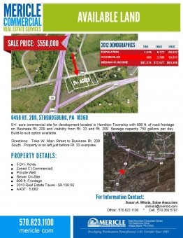 Available Land - 6458 Route 209, Stroudsburg